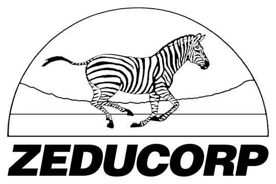 black and white Zeducorp logo